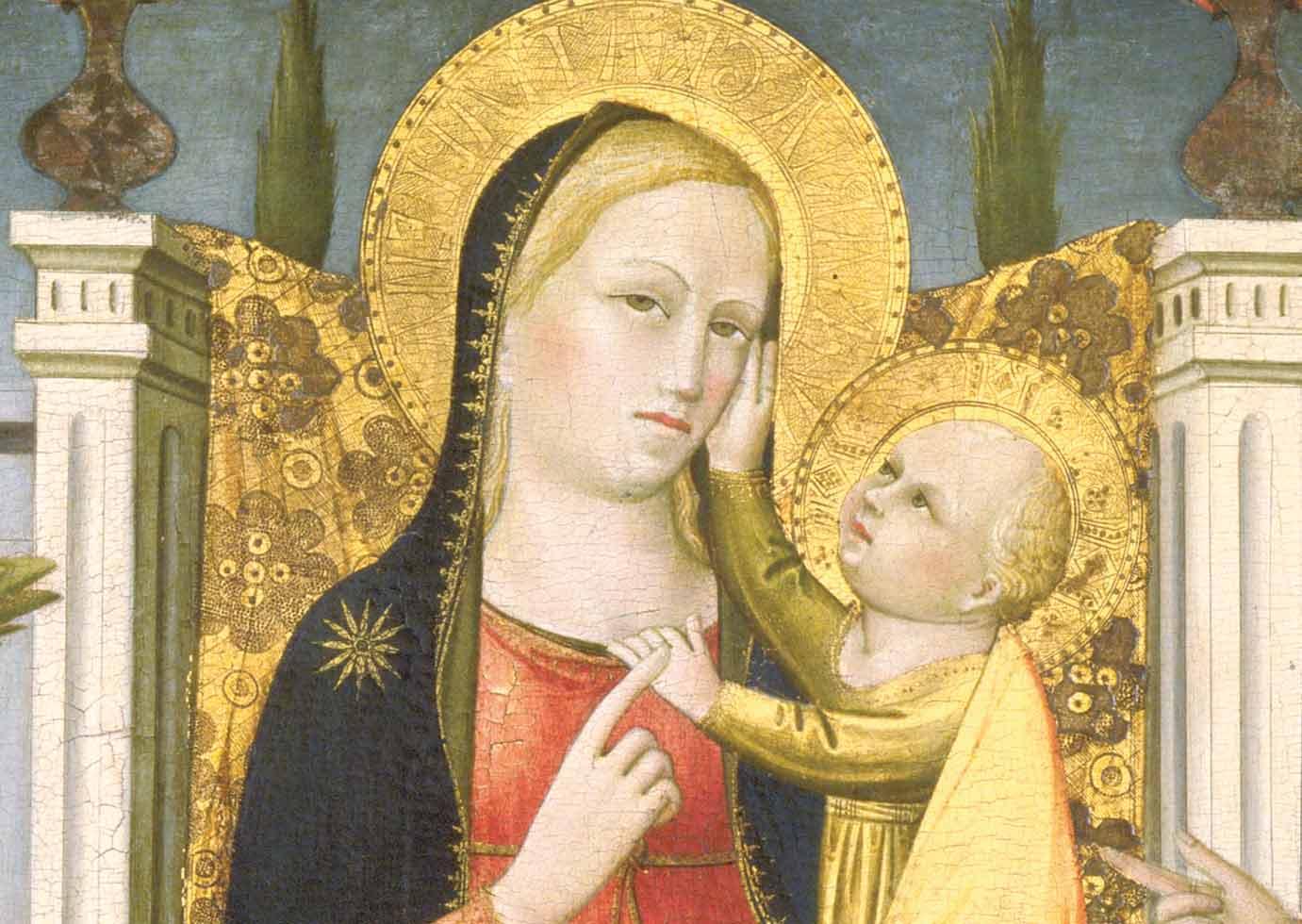 Madonna col Bambino in trono tra i santi