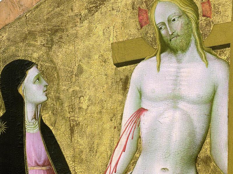 Christus patiens tra la Vergine e santa Lucia