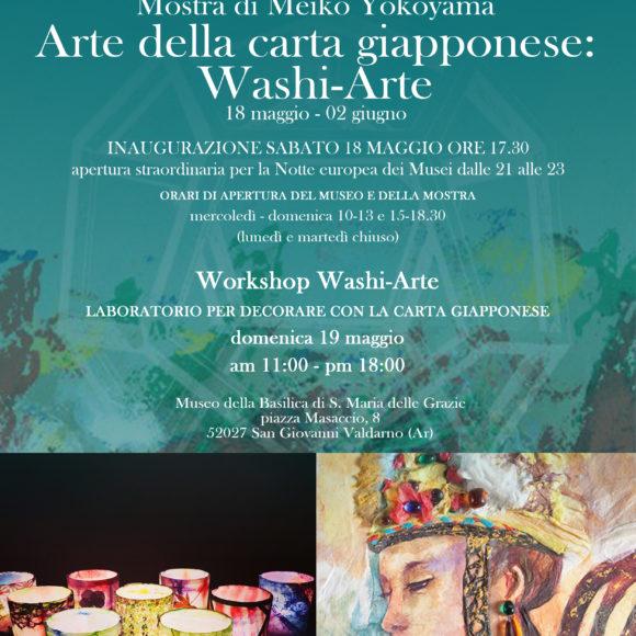 Notte europea dei Musei e Amico Museo: mostra e workshop di WASHI ARTE